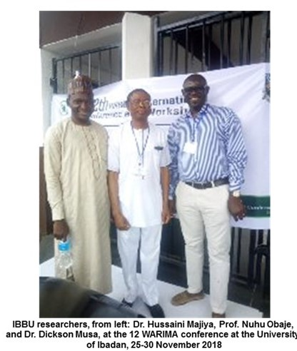 IBBU Researchers Attend West African Research and Innovation Management Association (WARIMA) Conference